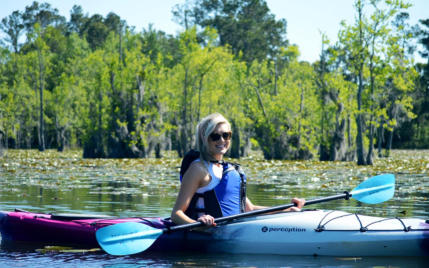 Explore sandy beaches on Coon Island Lake Moultrie nature tour